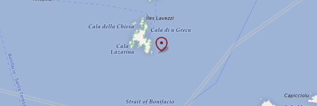 Carte Îles Lavezzi - Corse