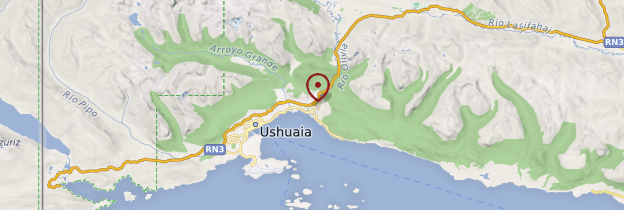 Carte Ushuaia - Patagonie