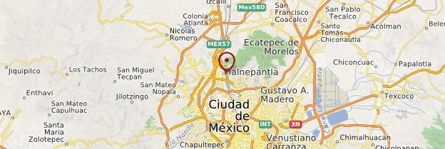 Carte Zona arqueológica de Teotihuacán - Mexique