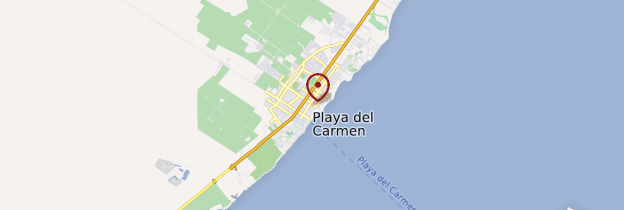 Carte Playa del Carmen - Mexique