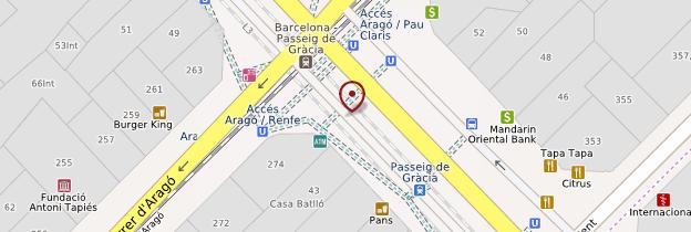 Carte Casa Batlló - Barcelone