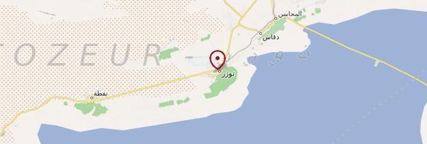 Carte Tozeur - Tunisie