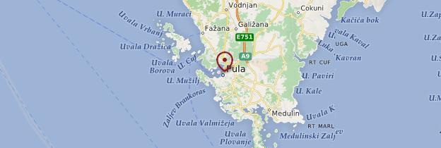Carte Pula - Croatie