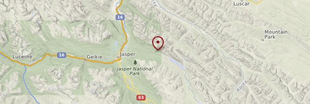 Carte Jasper National Park - Canada