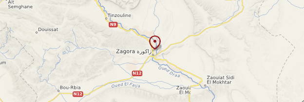 Carte Zagora - Maroc