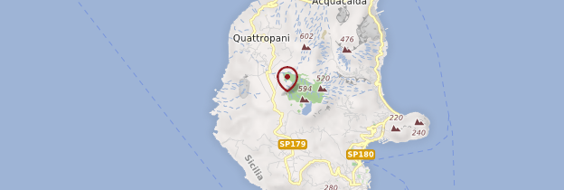 Carte Isola di Lipari - Sicile