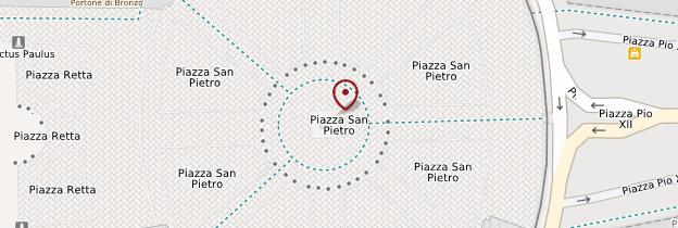 Carte Piazza San Pietro (place Saint-Pierre) - Rome