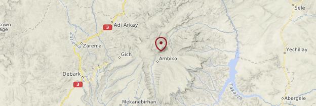 Carte Parc national du Simien - Éthiopie