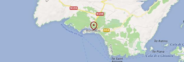 Carte Bonifacio - Corse