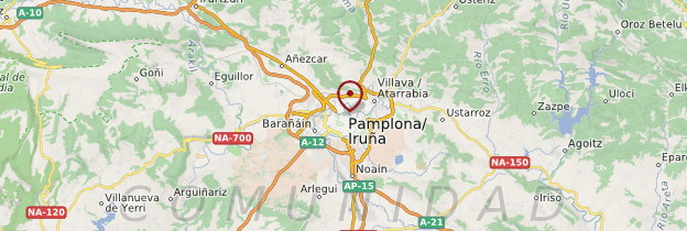 Carte Pampelune (Pamplona ou Iruña) - Espagne