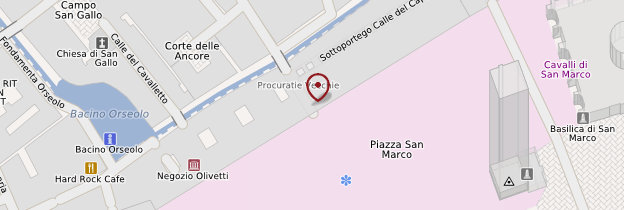 Carte Place Saint-Marc - Venise