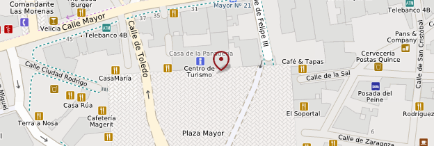Carte Plaza Mayor - Madrid