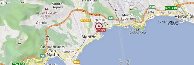 Carte Menton - Côte d'Azur