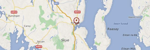 Carte Portree - Écosse