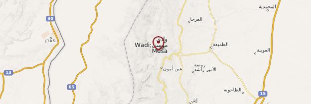 Carte Pétra (Wadi Musa) - Jordanie