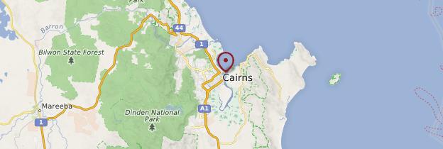 Carte Cairns - Australie