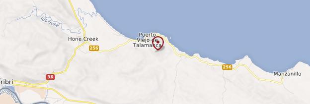 Carte Puerto Viejo de Talamanca  - Costa Rica