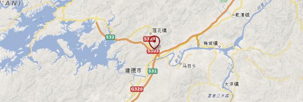 Carte Pays Hakka - Chine