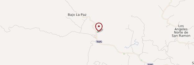 Carte Jardins de la cascade La Paz - Costa Rica