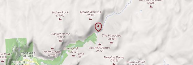 Carte Yosemite National Park - Parcs nationaux de l'Ouest américain