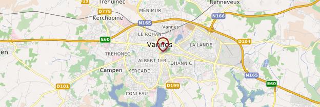 Carte Vannes (Gwened) - Bretagne