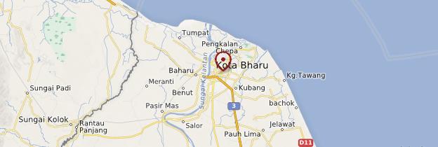 Carte Kota Bharu - Malaisie