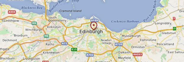 Carte Édimbourg - Écosse