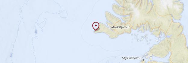 Carte Látrabjarg - Islande