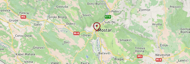 Carte Mostar - Bosnie-Herzégovine