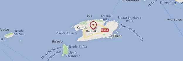 Carte Île de Vis - Croatie