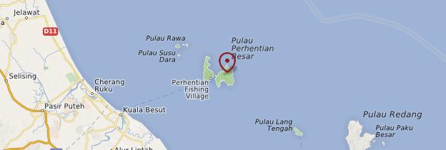 Carte Îles Perhentian - Malaisie