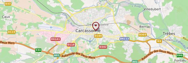 Carte Carcassonne - Languedoc-Roussillon