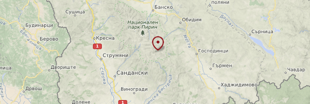 Carte Parc national du Pirin - Bulgarie