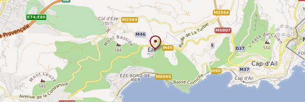 Carte Èze - Côte d'Azur