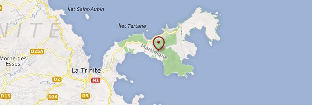 Carte Pointe de la Caravelle - Martinique