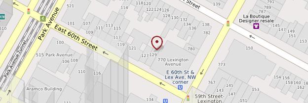 Carte East Side et Upper East Side - New York
