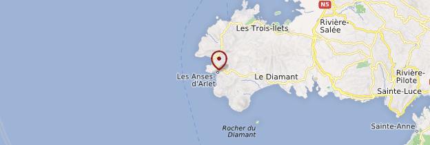 Carte Les Anses-d'Arlet - Martinique