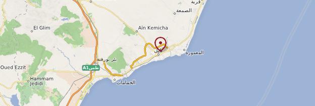 Carte Nabeul - Tunisie