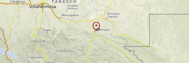 Carte Palenque - Mexique
