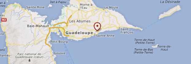 Carte Sainte-Anne - Guadeloupe