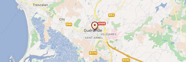 Carte Guérande - Pays de la Loire