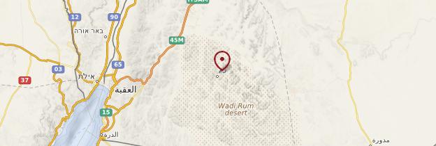 Carte Wadi Rum - Jordanie