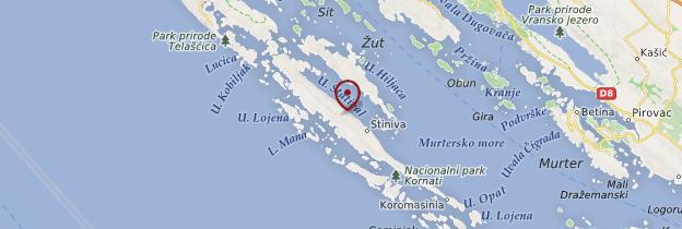 Carte Parc national des Kornati - Croatie