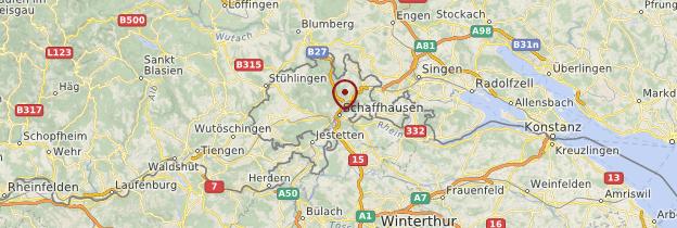 Carte Schaffhouse - Suisse