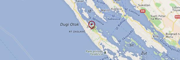 Carte Dugi otok - Croatie