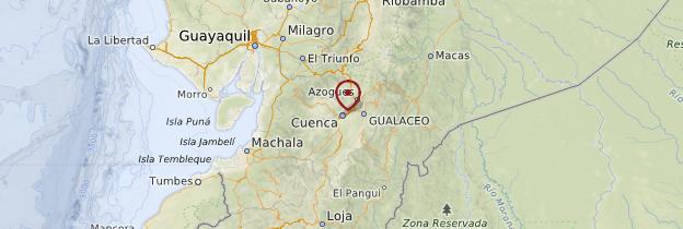 Carte Cuenca - Équateur