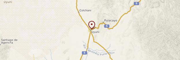 Carte Salar d'Uyuni - Bolivie
