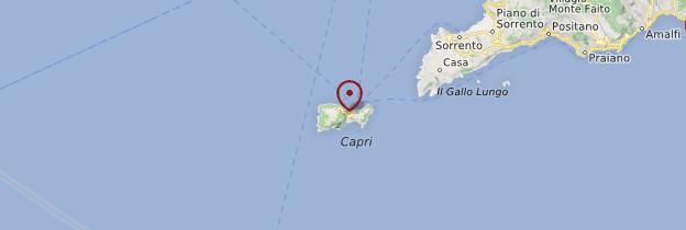 Carte Isola di Capri - Naples