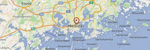 Carte Helsinki (Helsingfors) - Finlande
