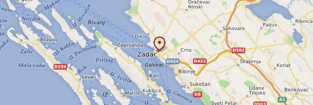 Carte Zadar - Croatie
